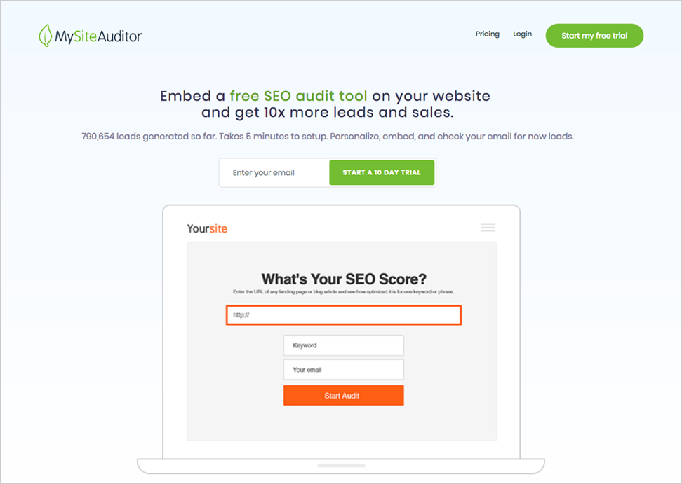 SEO Consultant Case Study MySiteAuditor